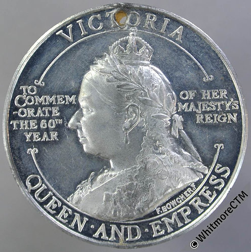 1897 Queen Victoria Diamond jubilee medal 38mm B3529 by Boucher for Spink W.M
