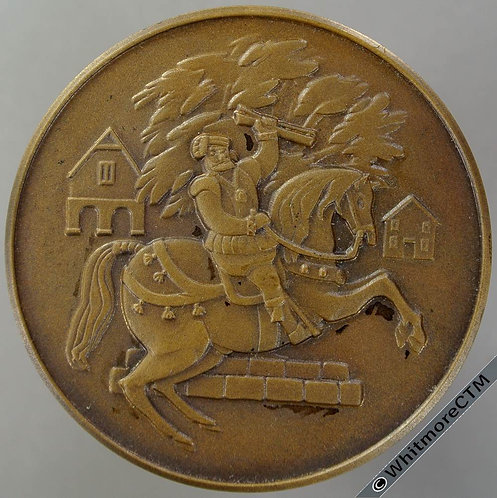 Caerwys (Flint) Wales 1968 400th Anniversary of Eisteddfod Medal 45mm Bronze