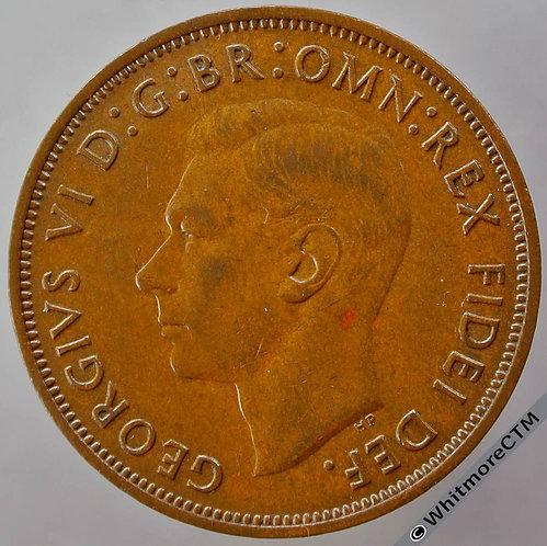 1950 British Bronze Penny George VI