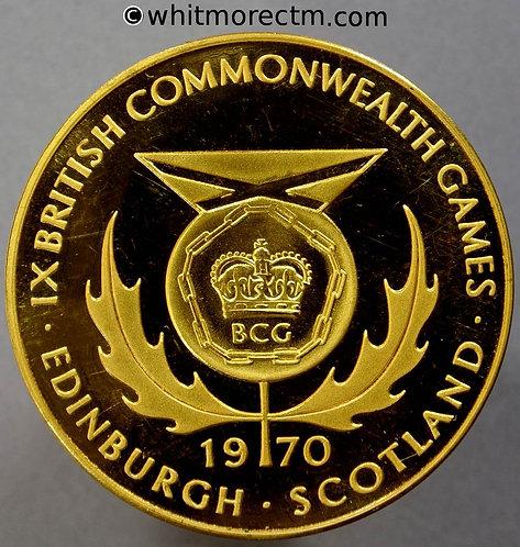 Edinburgh 1970 IX Commonwealth Games Medals 38mm E2121 Cased set of three