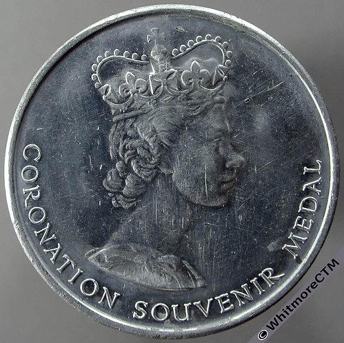 1953 Elizabeth II Coronation Medal 35mm National Playing Fields Aluminium B4453
