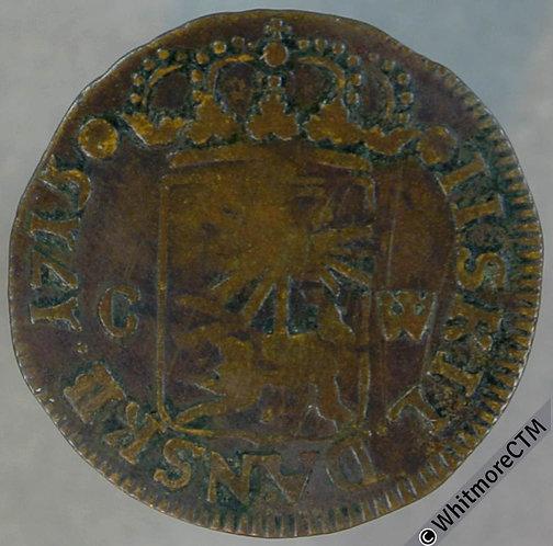 1715 Denmark Gluckstadt 2 skilling 1715CW