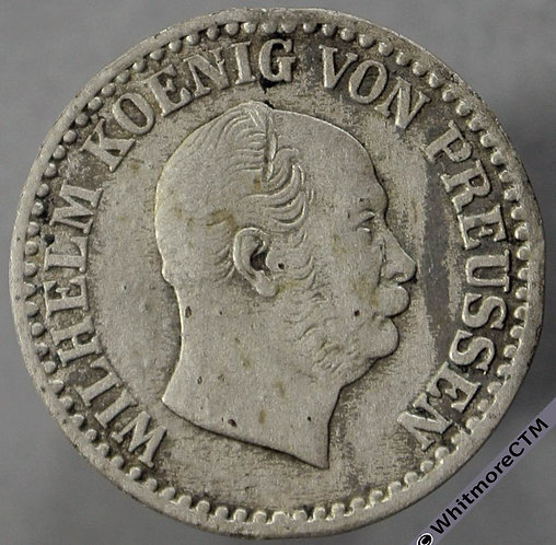 1863A Germany Prussia 1 Silber Groschen obv