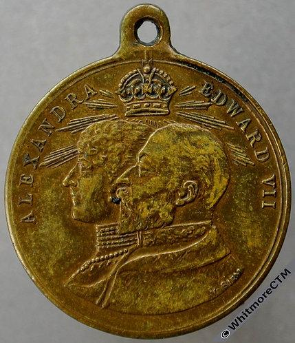 Milngarvie 1902 Edward VII Coronation Medal 24mm WE4620G Gilt bronze. Rare