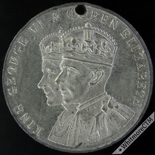 Jersey 1937 Coronation Medal 32mm WE7030C White metal.