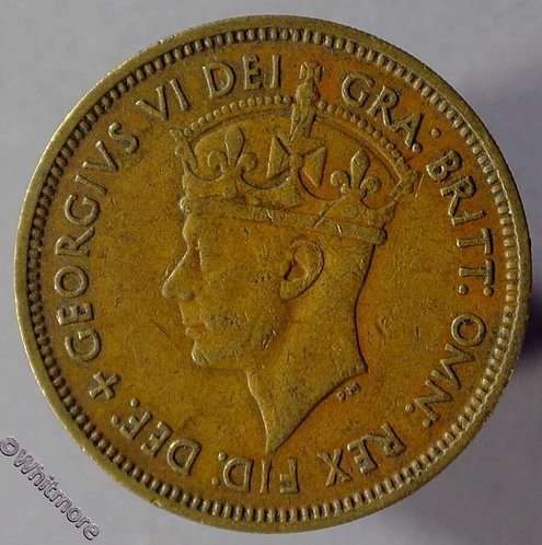 1949 Coin British West Africa Shilling coin Y27 1949KN