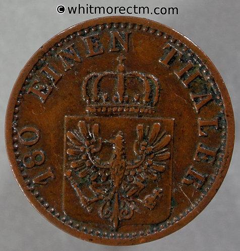1868 Germany Prussia 2 Pfennig coin 1868B - C162a