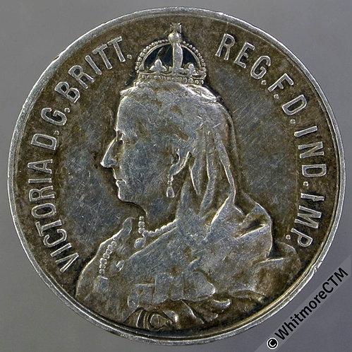 1897 Victoria diamond jubilee medal 22mm B3602 Silver - Very Rare