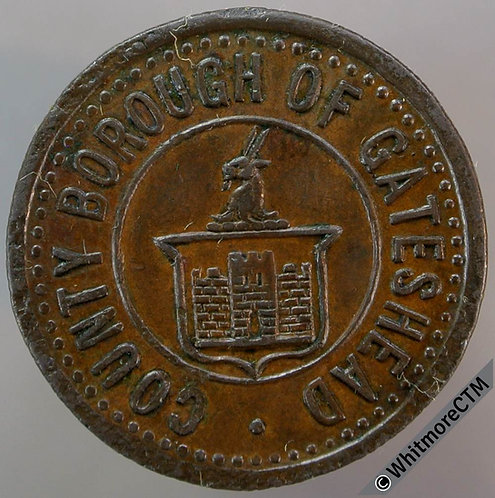 Gateshead Value Stated Token County Borough 3D By Ardill. 25mm Bronze