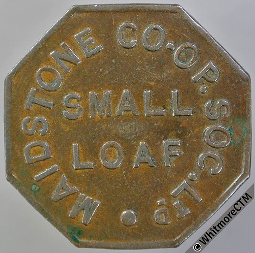 Co-Operative Society Token Maidstone 26mm Small loaf  Octagonal bronze