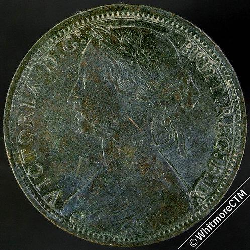 1866 Victoria Young Head Bronze Penny