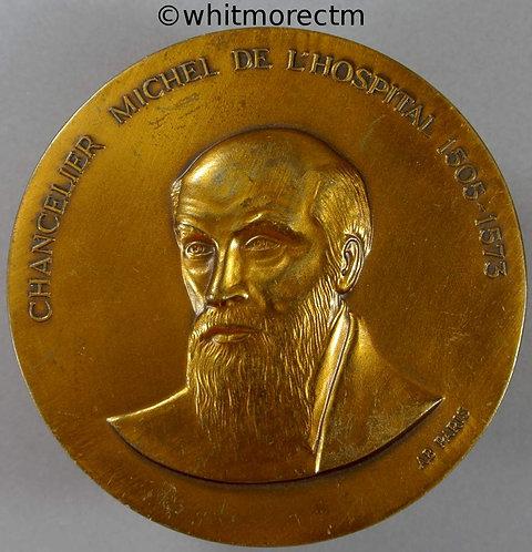 1990 Bicentenary of Tribunal de Commerce Paris Medal 68mm Bronze