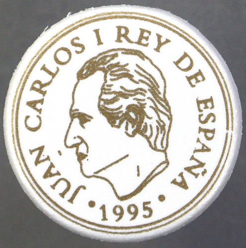 Toy Coins Spain 100 (26mm) 10 (21mm) 1 (19mm) Pesetas 1995 Gold/Black on White