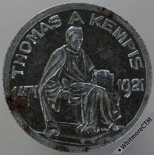 Germany Kempen-Rhein 1921 50 Pfennig Token 24mm Thomas A Kempis. Iron