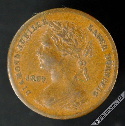 Toy Coin Lauer 1897 Jubilee Penny, young head. - 13mm - Rogers 615