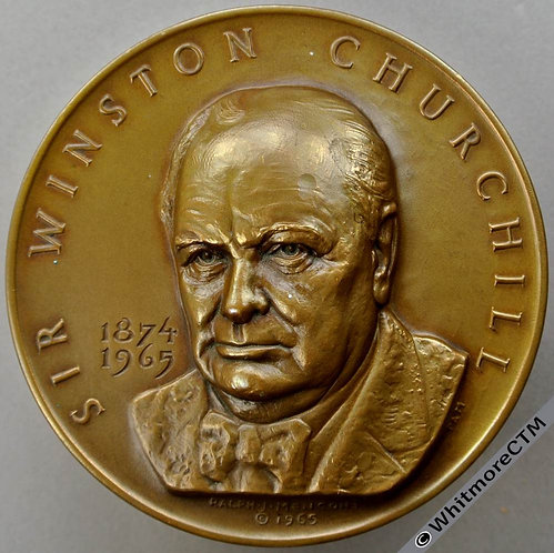 1965 Churchill Medal 70mm Bronze By Menconi. Houses of Parliament
