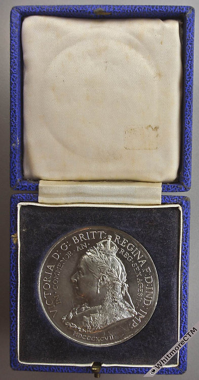 1897 Victoria Diamond Jubilee Medal 51mm B3514 By Bowcher for Spink. W.M Cased