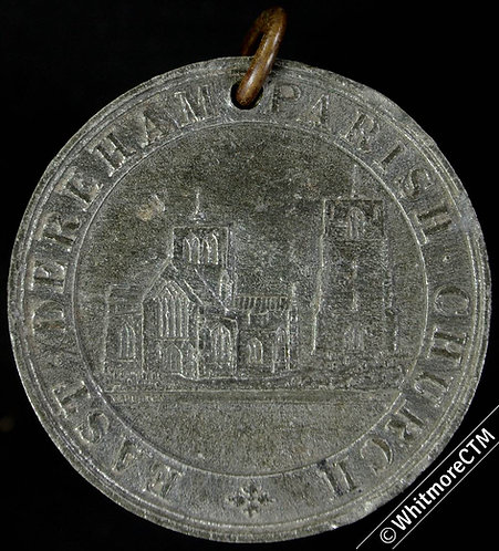 East Dereham Parish Church Sunday school attendance Medal 38mm Not in Dry - WM