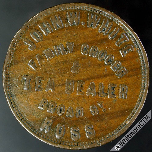 Unofficial Farthing Ross-on-Wye 4490 John W.White. Family Grocer - Very rare