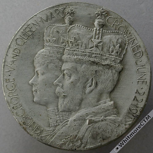 1911 George V Coronation Medal 51mm B4053 By H.B.Sale Not recorded this size