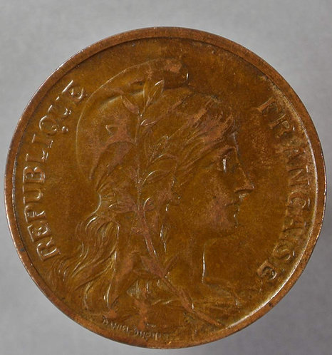 1900 France Y61 10 Centimes coin