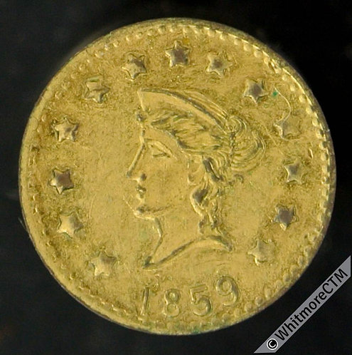 USA Model / Toy coin 12mm 1859 Liberty Head / California Gold. Not in Rogers