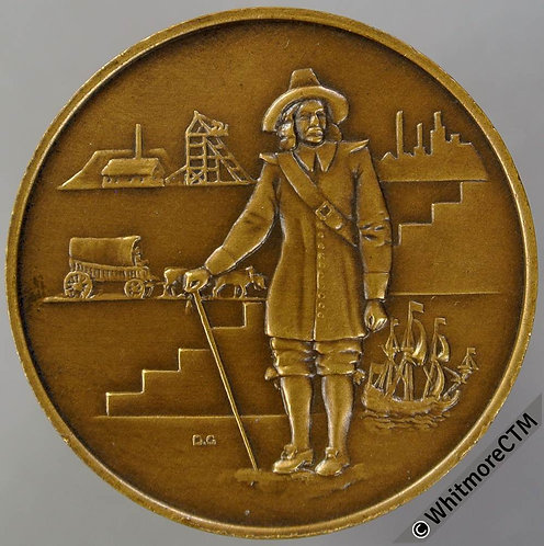 South Africa 1952 Van Riebeeck Tercentenary Medal 32mm By D. G. Bronze.