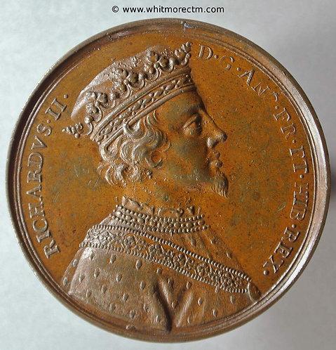 Richard II Medal - Dassier original 41mm Bronze
