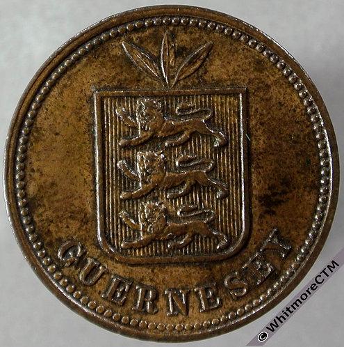 1899 Guernsey 2 Doubles obv E55 1899H