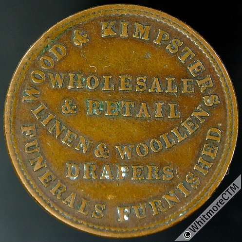 Unofficial Farthing Token Newcastle upon Tyne 3840 Wood and Kimpster Drapers