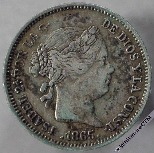 1865 Spain Seville 10 Centimos - obv