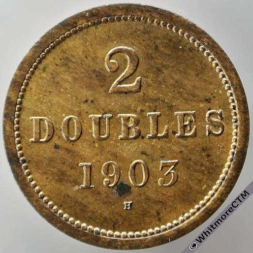 1903H Guernsey 2 Doubles E62 - 50% luster