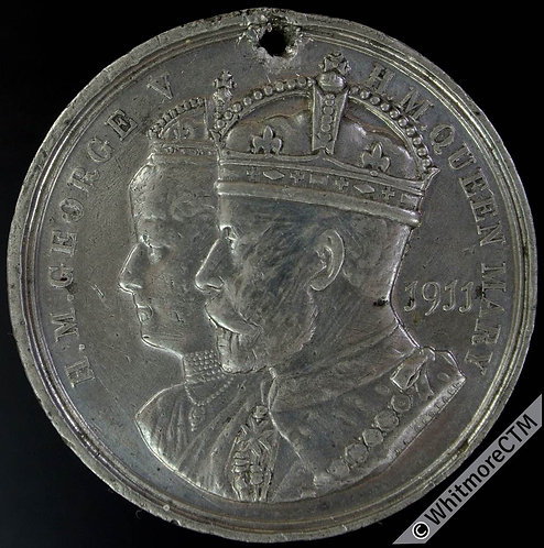 Carnoustie George V 1911 Coronation Medal 39mm WE5205E White metal