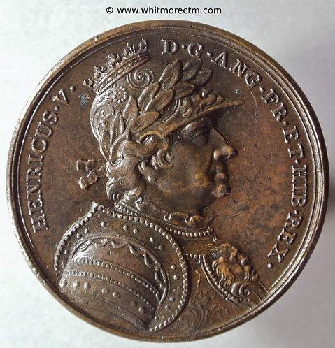 Henry V Medal Dassier restrike 40mm Bronze