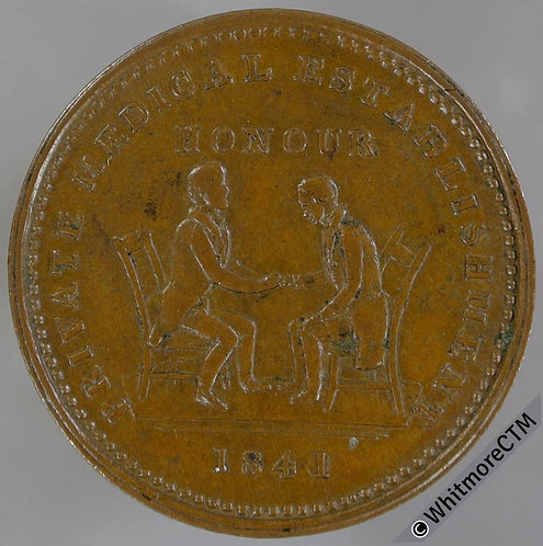 Unofficial Farthing Token Glasgow 7420 1841 (Dr.Stuart) Private Medical. Rare