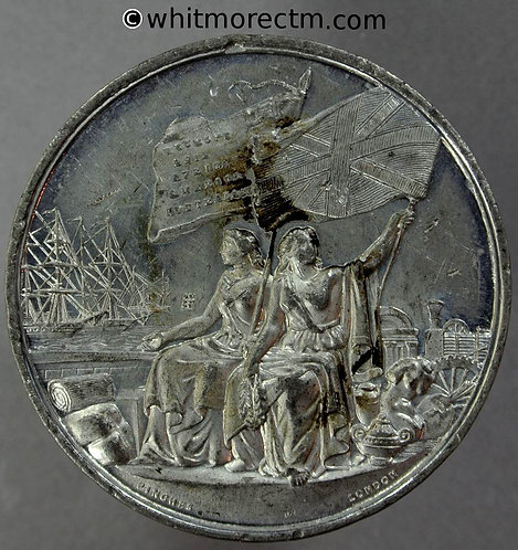 1862 Crystal Palace International Exhibition Medal 41mm B2741 By Pinches. W.M