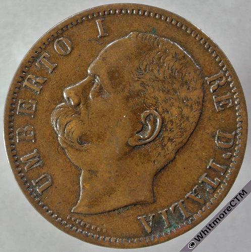 1894 BI Italy 10 Centesimi obv