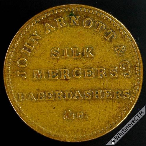 Unofficial Farthing Token Belfast 5380 John Arnott & Co. Silk mercers