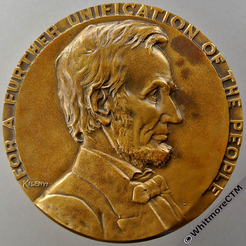 1937 USA Dedication of Lincoln Tunnel N.Y. Medal 77mm By Kilenyi. Bronze