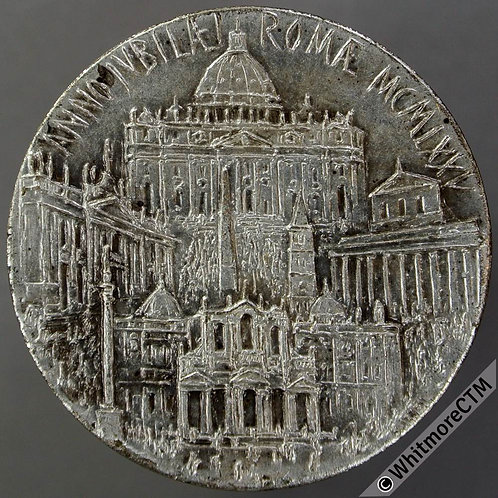 Papal 1975 Jubilee Year Medal 34mm St.Peters & other city landmarks