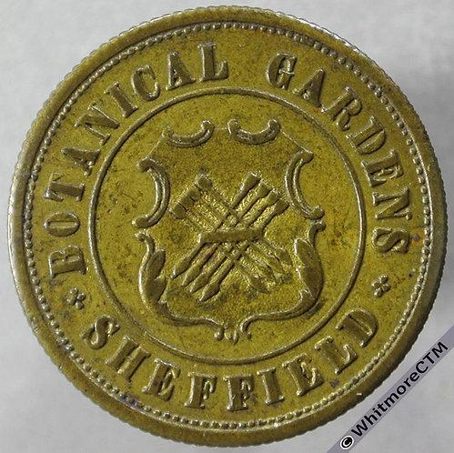 Ticket Pass Token Sheffield Botanical Gardens 95/372 obv. Uniface 24mm - Very Rare
