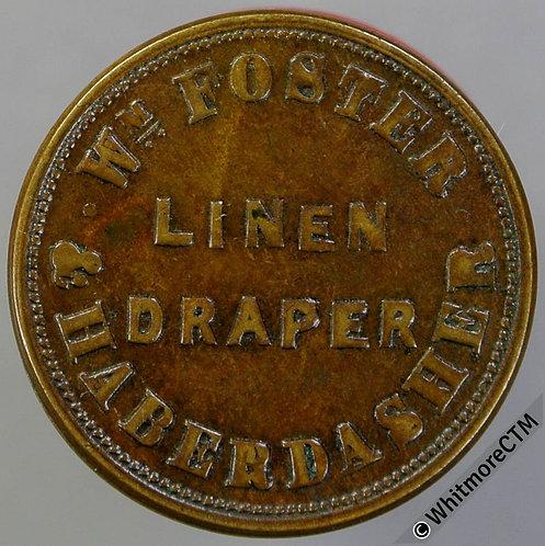 Unofficial Farthing Belfast 5430 Wm.Foster - Linen draper, haberdasher