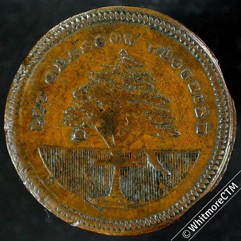 18th Century Farthing Token Glasgow 42 Arms / Retailers token. Very Rare