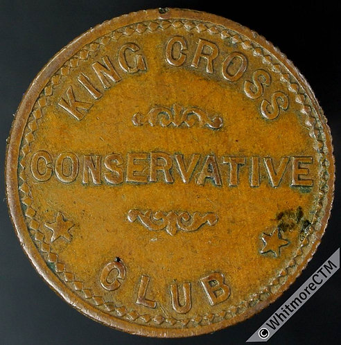 Inn / Pub Token Halifax King Cross Conservative Club / 1D 22mm - By Ardill