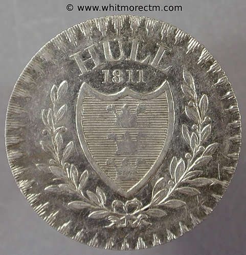 19th C Silver Shilling and Sixpence Hull 12 1811 Rudston & Preston Very Rare - obv