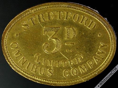 Stretford Transport Token 32x24mm Omnibus Company Limited 3D - Very rare