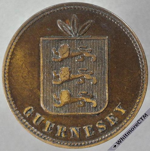 1874 Guernsey 4 Doubles E34 obv