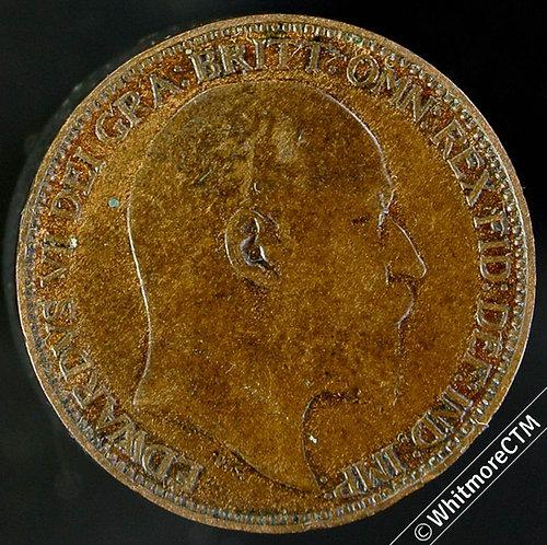 1905 British Bronze Farthing Edward VII
