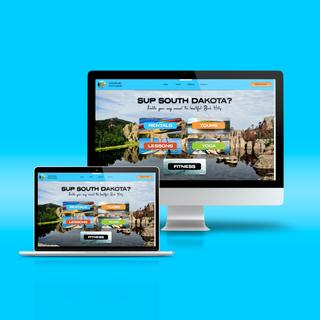 Website and Logo Design for Paddle Board South Dakota