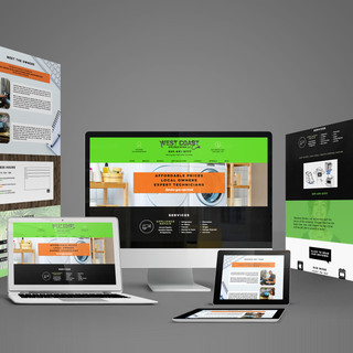 Website and Logo Design for West Coast Appliance Repair